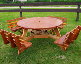 Great 58 Inch Round Picnic Table